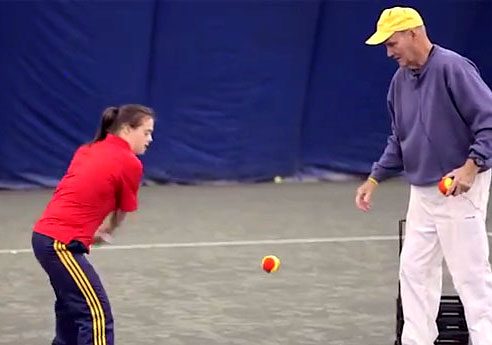 Drills with Coach Fred Laws at the Raleigh Racquet Club